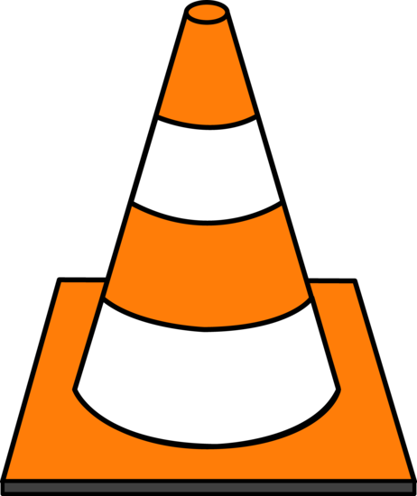 transparent download Orange Striped Road Cone