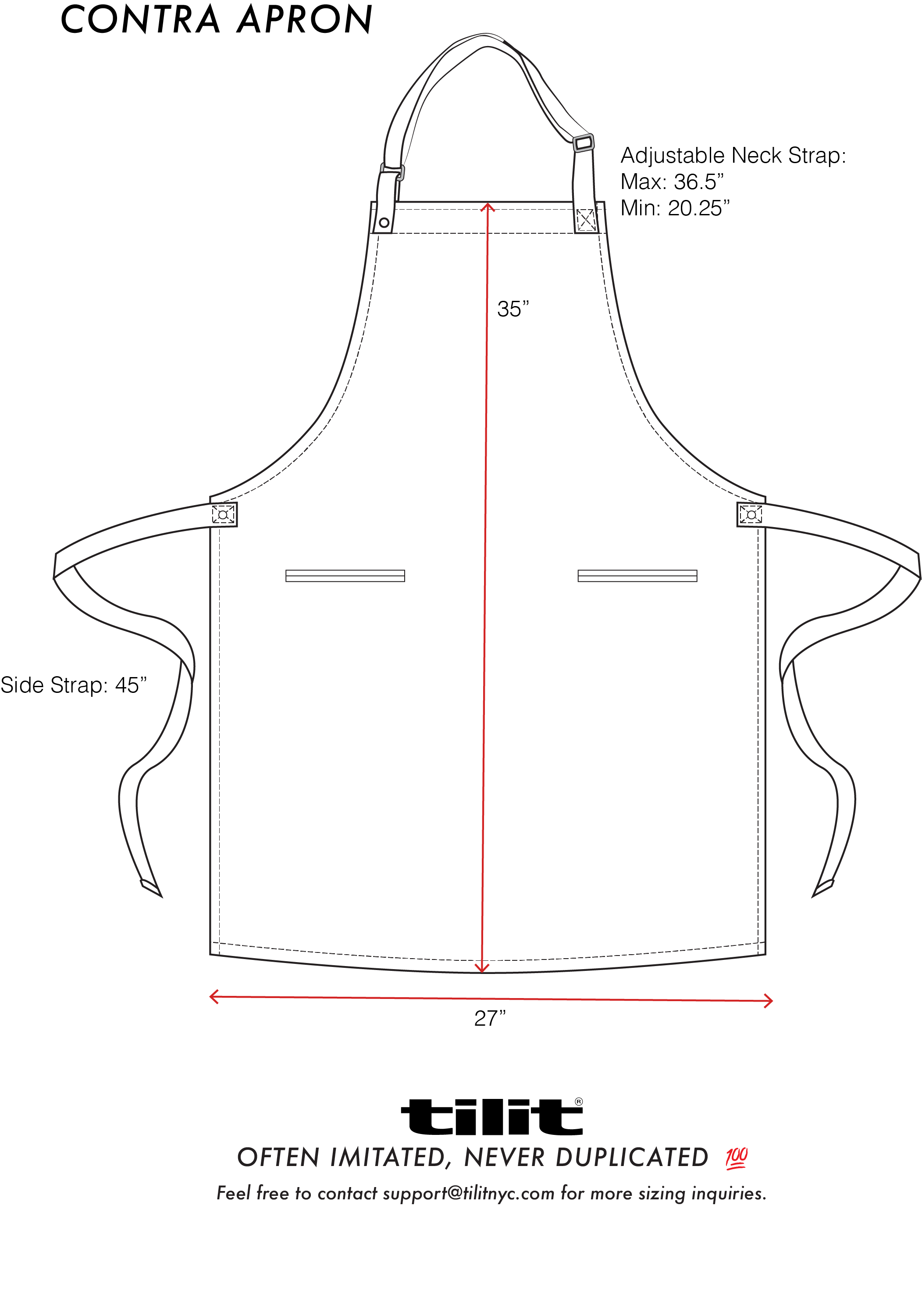 picture free library Contra Chef Aprons Size Chart