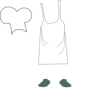 clip royalty free stock Chef Apron And Hat Clip Art at Clker