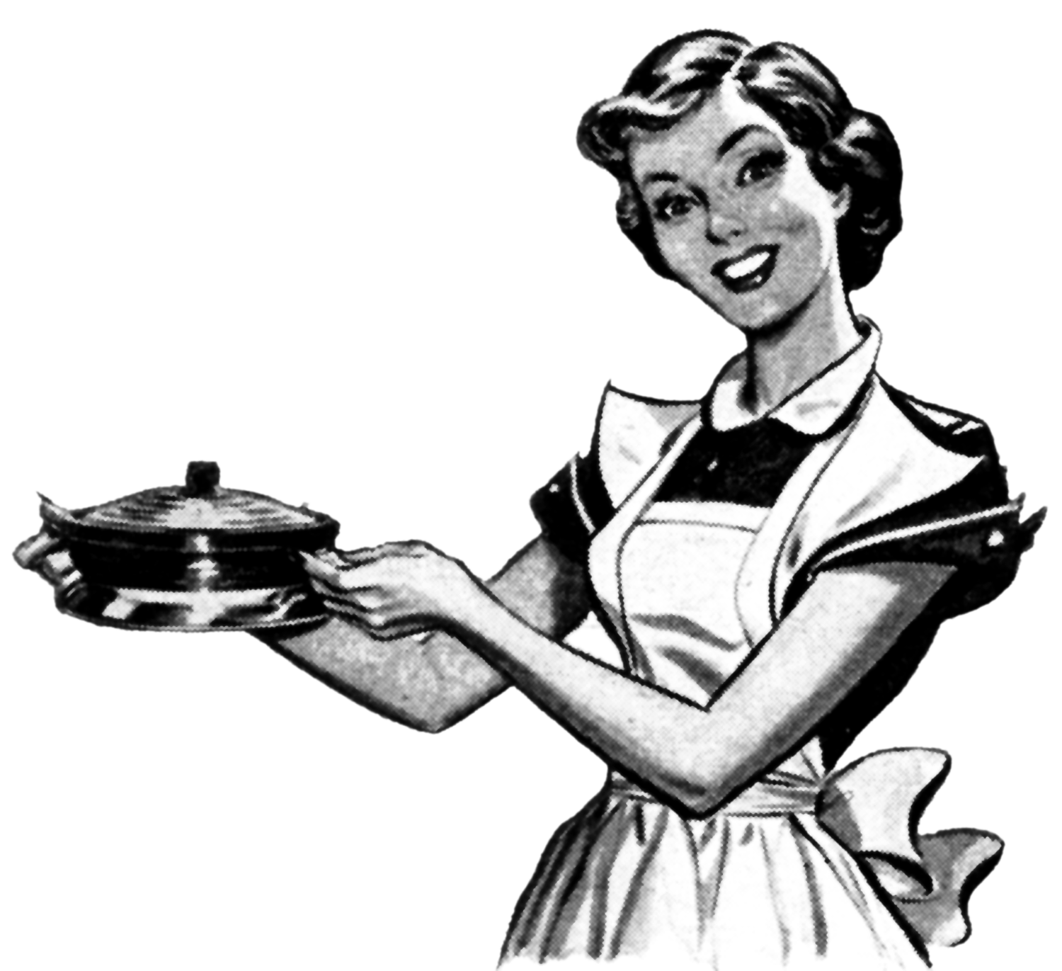jpg black and white library apron cook drawing