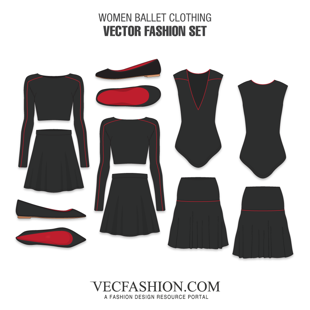graphic royalty free library Fashion sets vecfashion women. Vector clothing women's