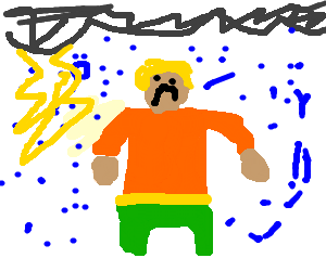 graphic royalty free library Aquaman drawing. On a bad day