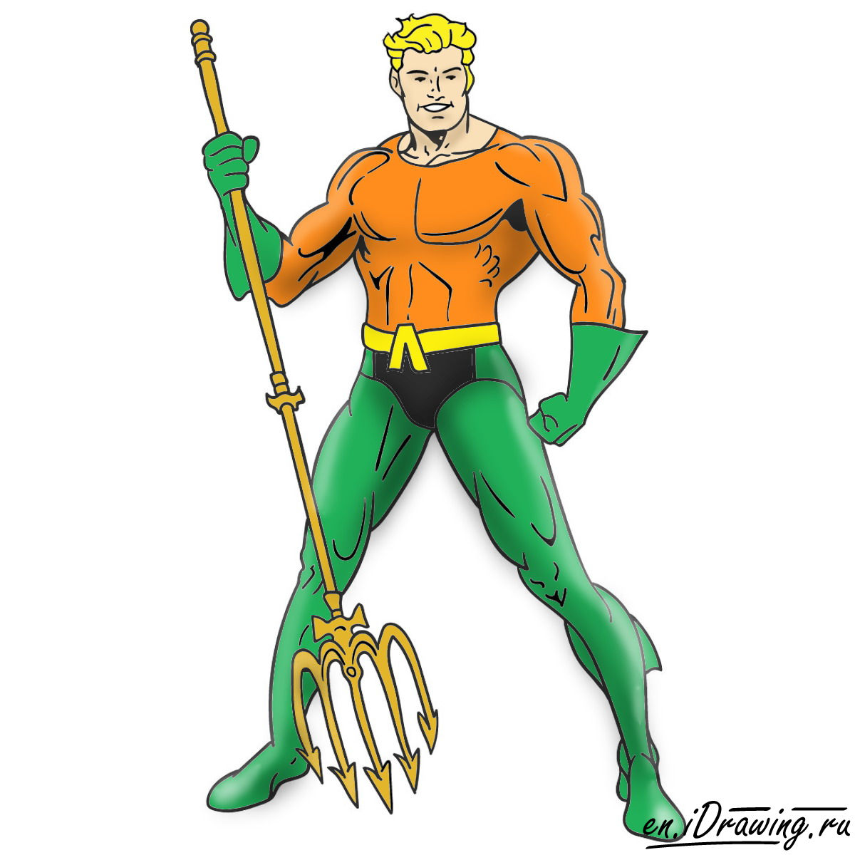 graphic library download Aquaman drawing cartoon. How to draw from