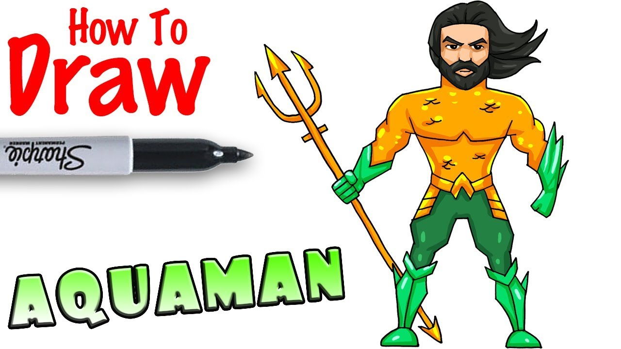 png library How to draw . Aquaman drawing cartoon