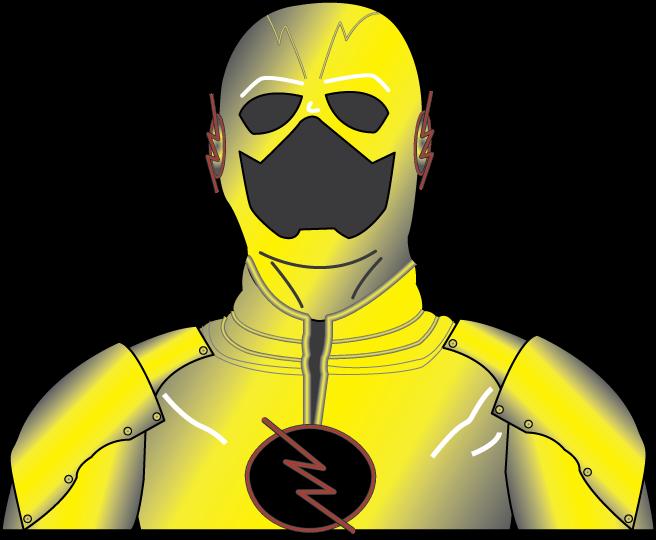 png download Reverse Flash Costume Bust Illustration