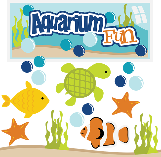 svg royalty free stock Aquarium clipart. Fun svg fish files.