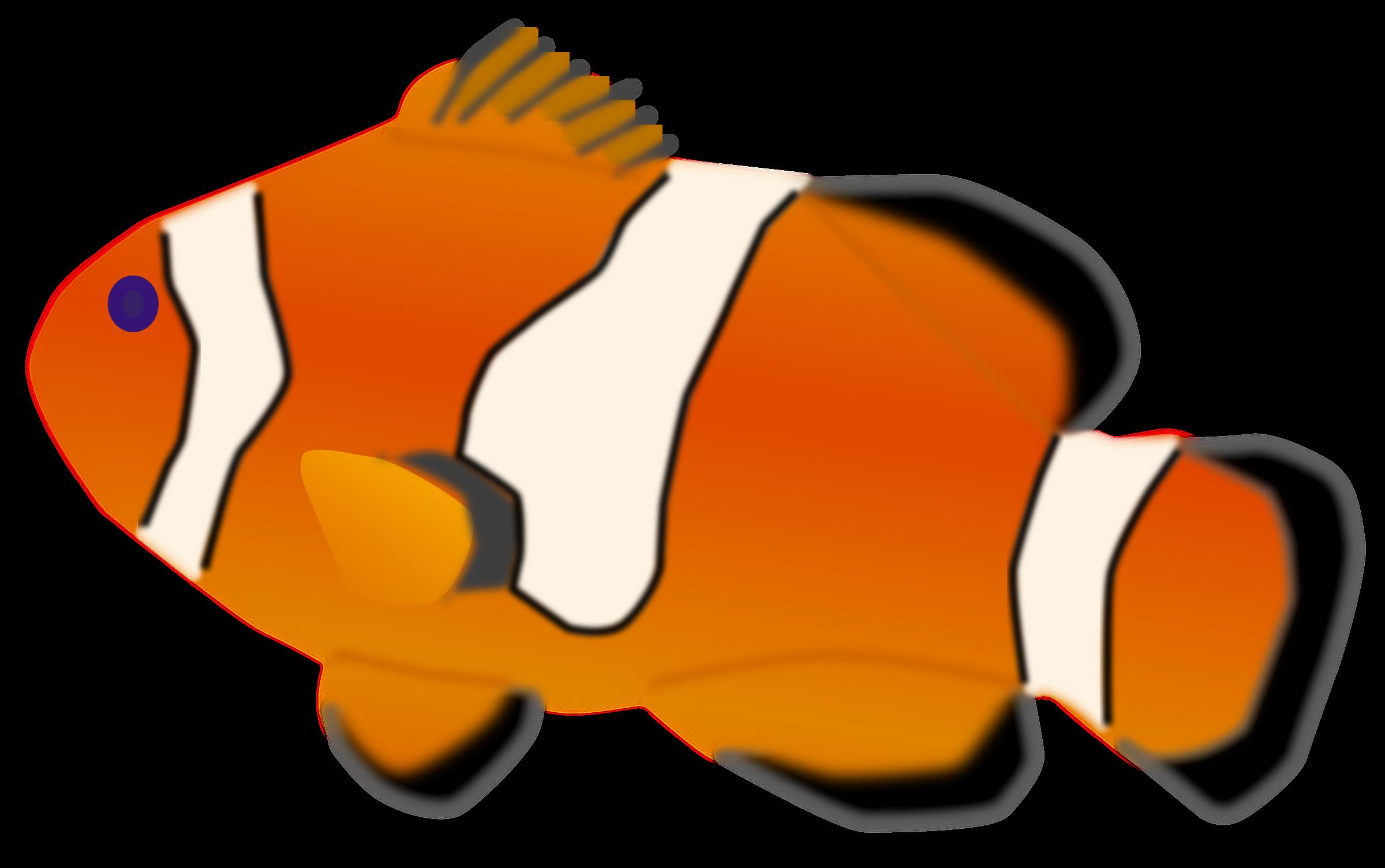 picture freeuse Aquarium clipart. Fish amphiprion percula big.
