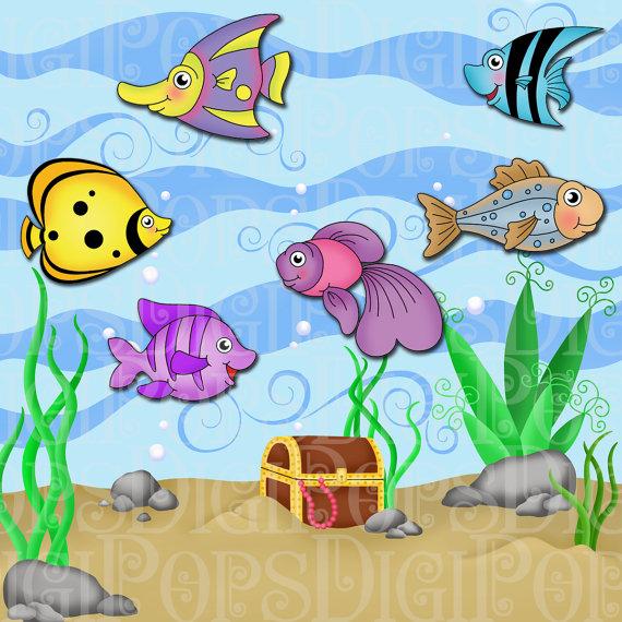 clip royalty free Aquarium clipart. Under the sea digital.