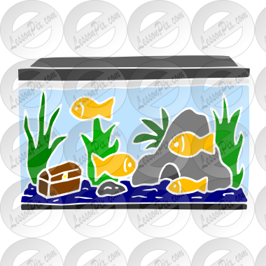 image royalty free library Stencil for classroom therapy. Aquarium clipart.