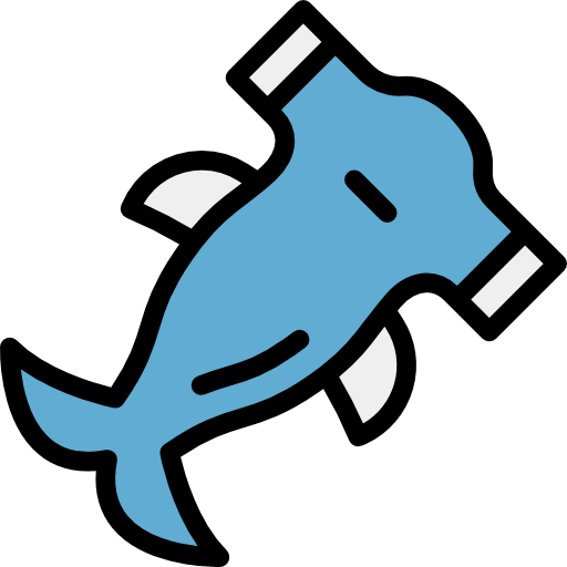 image black and white stock Aquarium clipart svg. Aquatic sea life hummerhead.