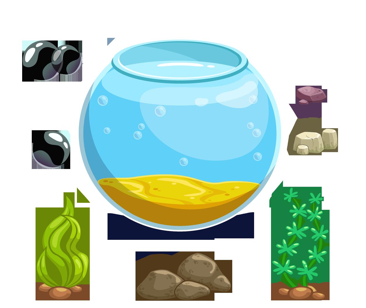 vector black and white library Cartoon Aquarium Icon
