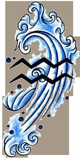 banner freeuse stock Aquarius Tattoos Designs