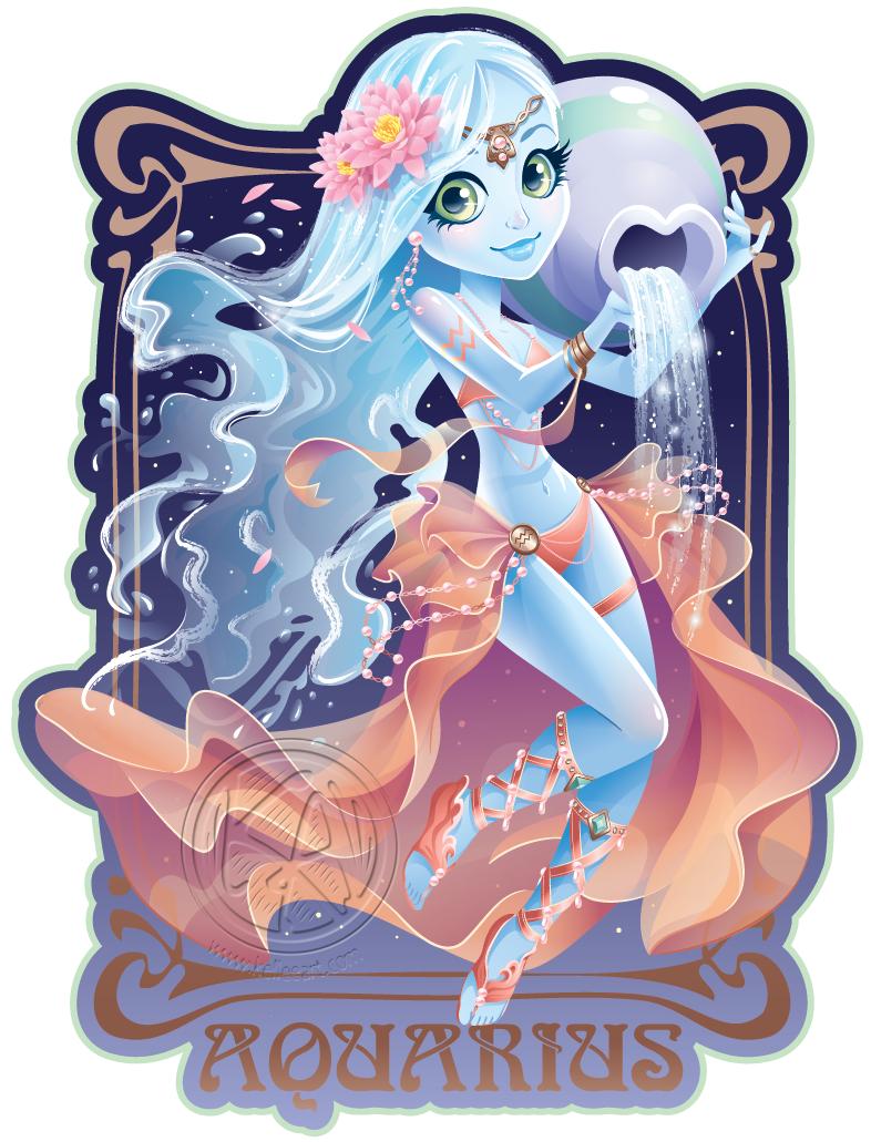 clip royalty free Aquarius by KelleeArt