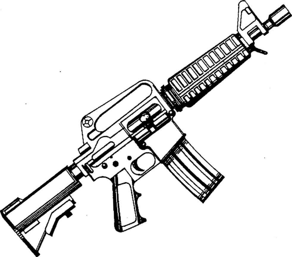 jpg freeuse Pin on gun coloring. Ar15 drawing