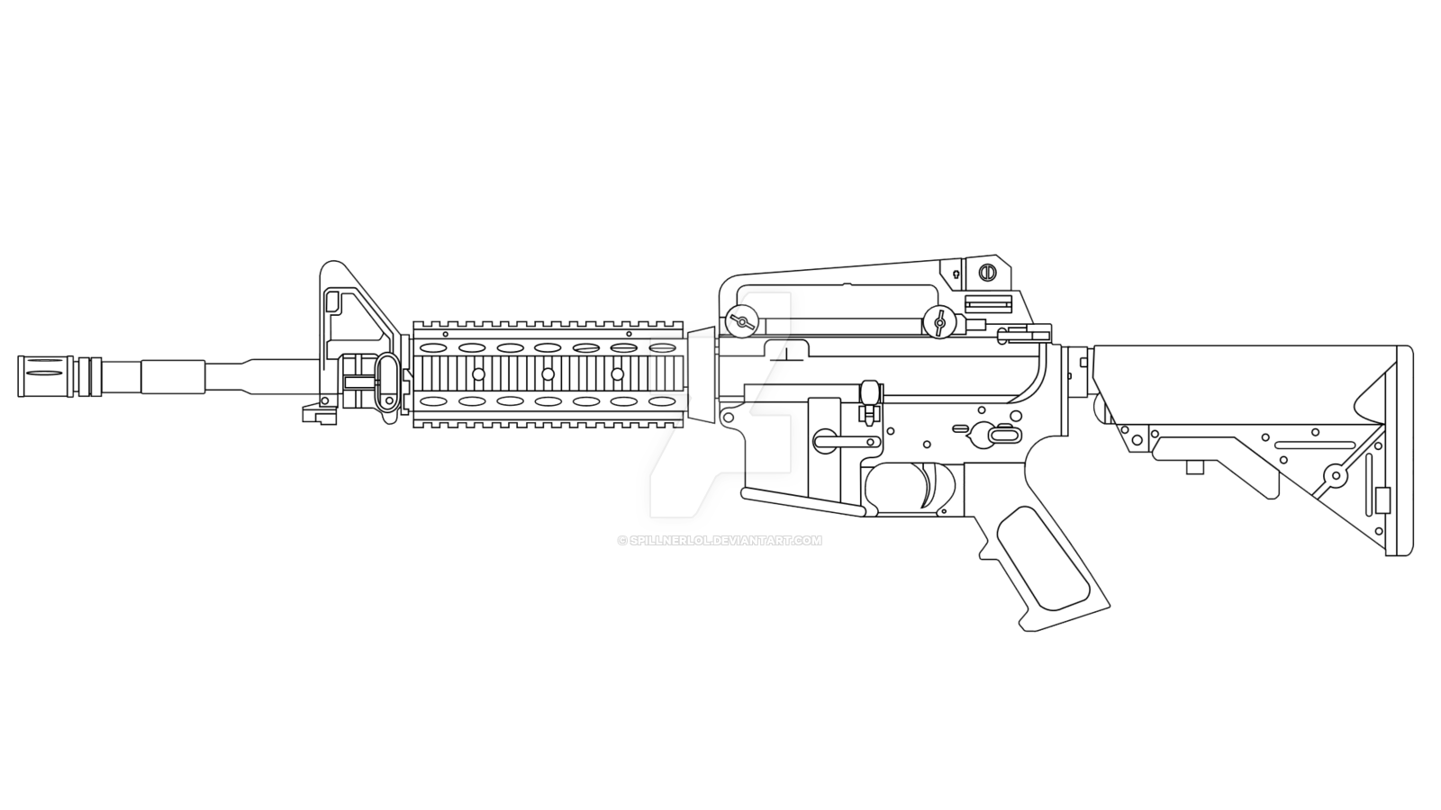 graphic transparent stock Firearm Drawing Concept art Gun barrel