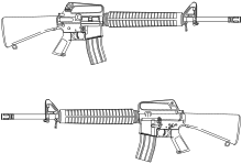 clip transparent library Ar15 drawing. M rifle top is