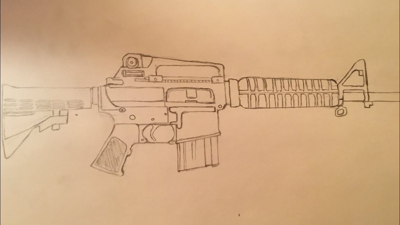 png freeuse library How to draw ar. Ar15 drawing