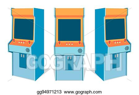 svg transparent stock Vector game machine on. Arcade clipart