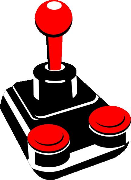banner transparent download Retro joystick clip art. Arcade clipart