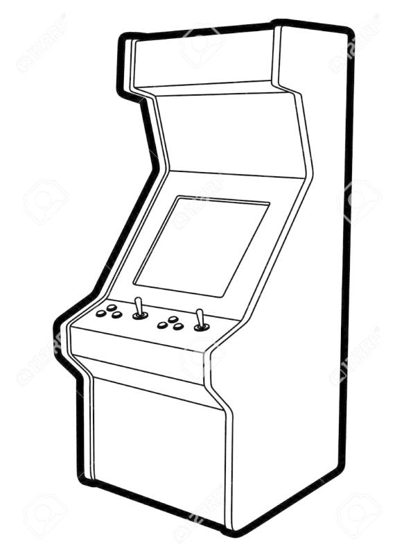 graphic black and white download Arcade clipart black and white.
