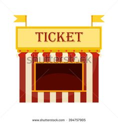 svg free stock Arcade clipart booth. Ticket transparent .