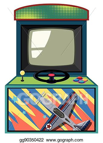 royalty free Arcade clipart box. Vector stock game with