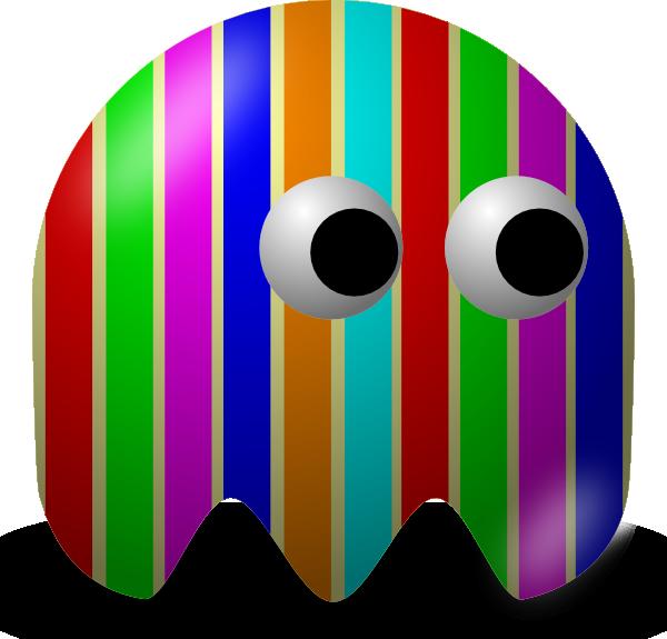 banner library download Pcman baddie stripey clip. Arcade clipart game