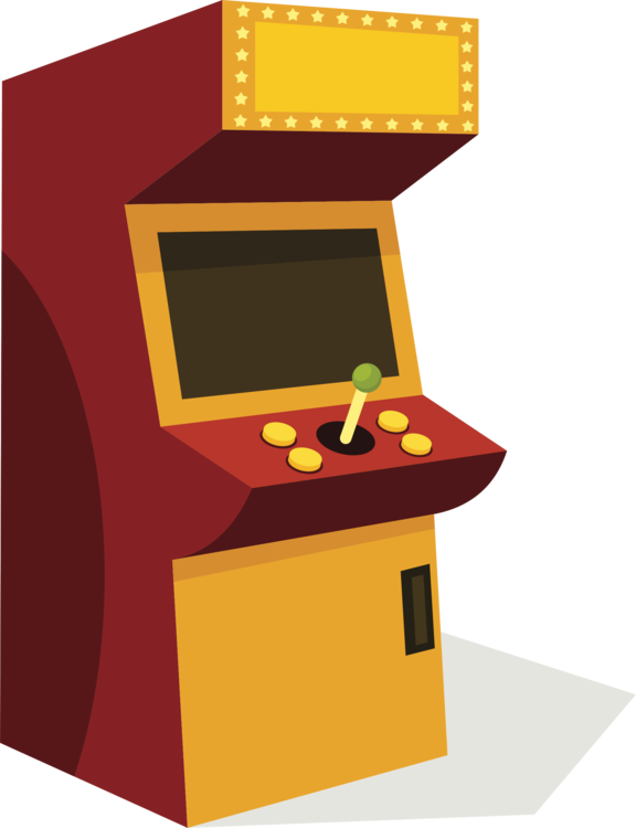 vector transparent library Angle yellow desk png. Arcade clipart game console.