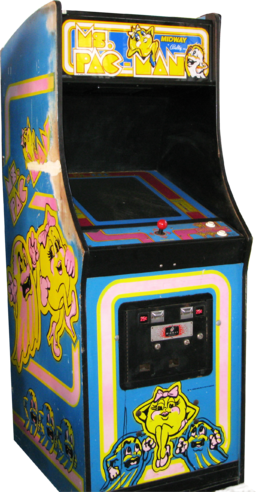 graphic royalty free Arcade clipart game over. Ms pac man wikipedia