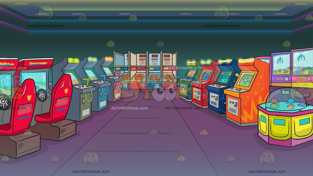 picture freeuse Arcade clipart game room. An filled with games.