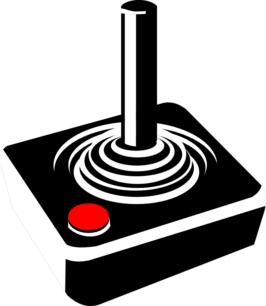 picture freeuse library Arcade clipart game room. Retro joystick atari free.