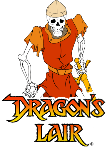 svg black and white stock Dirk s death dragons. Arcade clipart game zone