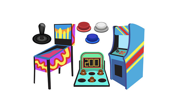 vector freeuse stock Arcade clipart game zone. Transparent free for download