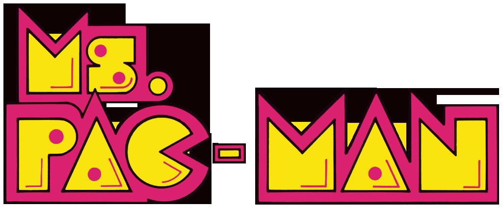 vector Arcade clipart neon sign. Ms pac man logo