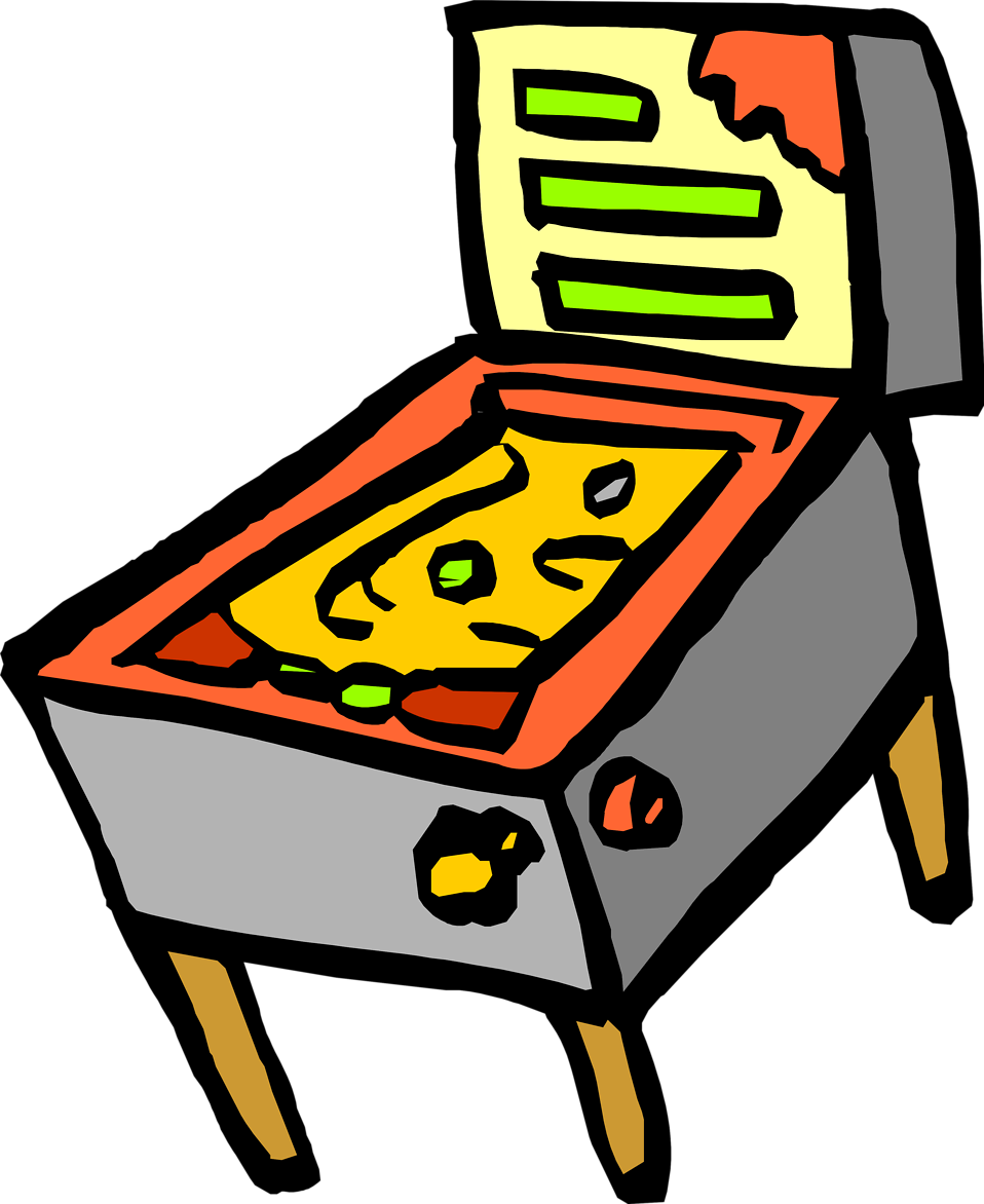 graphic transparent Arcade clipart pinball. Video pencil and in