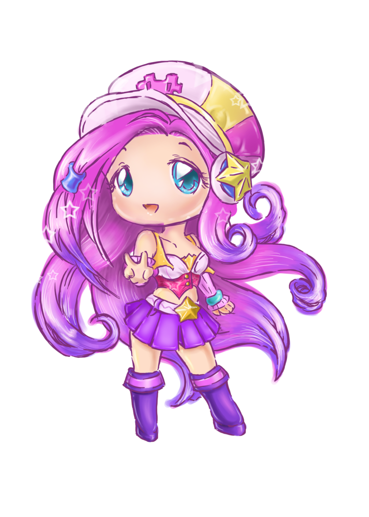vector royalty free Arcade clipart prizes. Coloured chibi miss fortune.