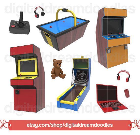 jpg black and white Arcade clipart retro. Video game clip art