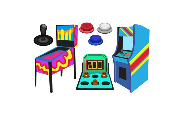 png free Arcade clipart sign. Game icons pinball