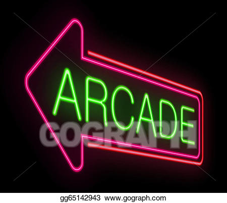 jpg stock Stock illustration neon illustrations. Arcade clipart sign
