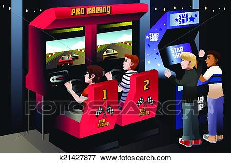 graphic library stock Arcade clipart video. Station