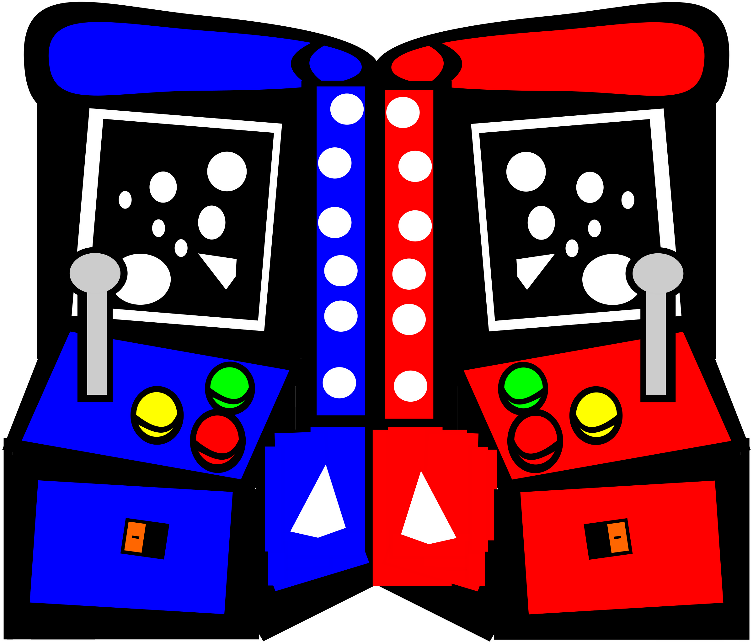black and white stock Big image png. Arcade clipart.
