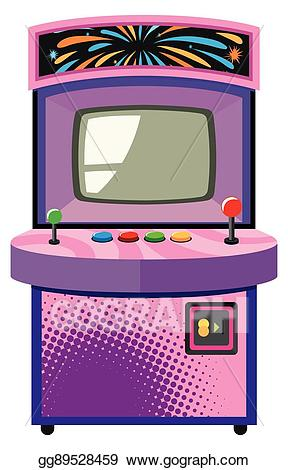 svg black and white library Vector art game machine. Arcade clipart box