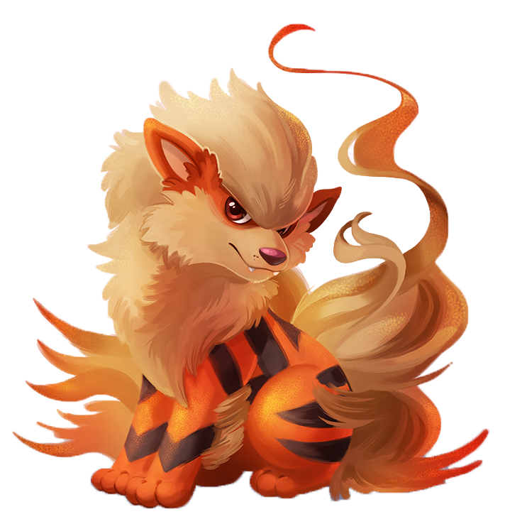 picture free stock Arcanine drawing. Pokxe mon red and