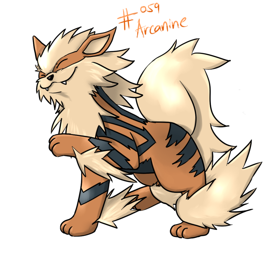 graphic black and white download By on deviantart . Arcanine drawing