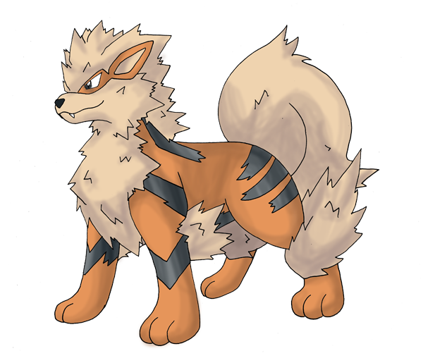 image black and white download How to draw on. Arcanine drawing