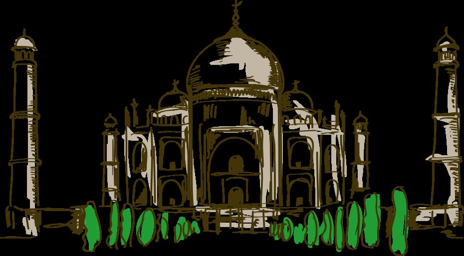 image royalty free download Taj Mahal Drawing Cartoon