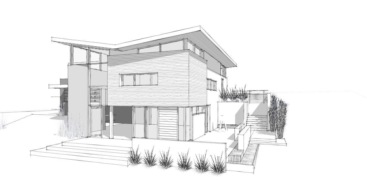 picture free stock Houses drawing dream house. Modern home architecture sketches
