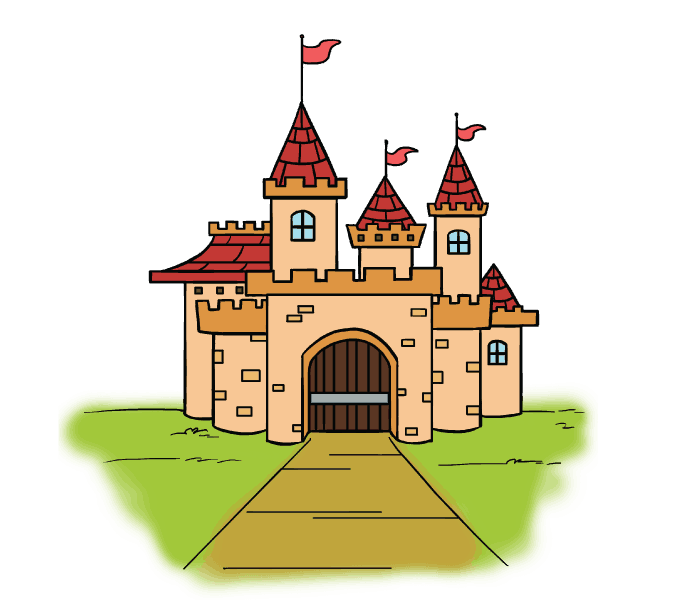 image free How to Draw a Cartoon Castle in a Few Easy Steps