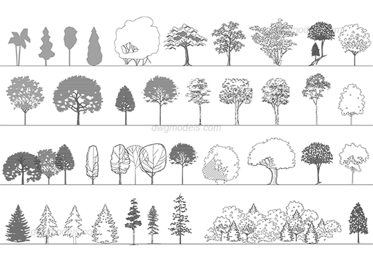 svg royalty free library Collection of free Cad drawing tree