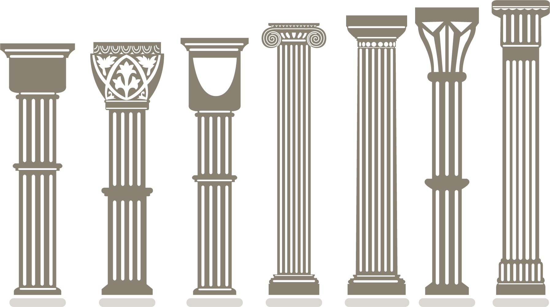 vector stock Pillars vector arch. Column wall multi transprent